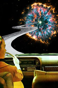 On The Road To The Akashic Library // Eugenia Loli This gallery wrapped canvas art print features evocative and original artwork that's sure to turn a few heads. It arrives hand-assembled on pine wood stretcher Eugenia Loli, Library Art, Arte Pop, Dope Art, Retro Futurism, Psychedelic Art, Surreal Art, Cute Wallpapers, Aesthetic Wallpapers
