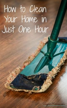 Find out how to clean your home in just 1 hour with these cleaning tips! You'll get a minute-by-minute breakdown of what should - and SHOULDN'T - get priority when you have just 1 hour to clean and tidy your home for guests. ~ cleaning tips ~ how to clean ~ get a clean home fast ~ tidying tips ~ how to tidy the house ~