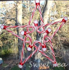 candy cane star wreath