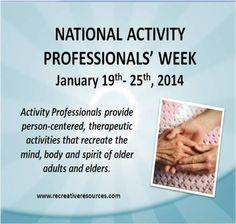 National Activity Professionals' Week 2015 | Recreation ...