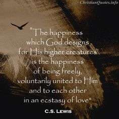 C.S. Lewis quote, ecstasy of love