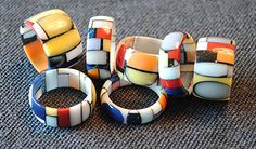 colored Corian rings  lab@francoeccel.com #francoeccel Corian, Napkin Rings, Lab, Creative, Handmade, Color, Jewelry, Hand Made, Jewlery