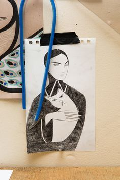 Artist Kelly Beeman Talks Marie Claire Italia, Jonathan Anderson, and More: Woman Holding Cat | coveteur.com