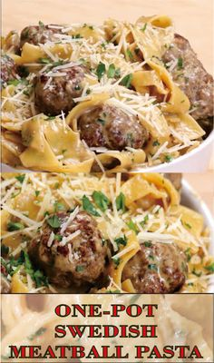 One-Pot Swedish Meatball Pasta Meatball Recipes, Beef Recipes, Cooking Recipes, Healthy Recipes, Pasta Recipes, Swedish Meatball Pasta Recipe, Recipes Using Meatballs, Swedish Meatballs Crockpot, Cooking Games