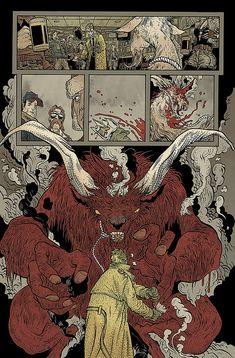 art from hellblazer (story by brian azzarello & art by rafael grampa) Graphic Novel Art, Manga Comics, Drawings, Fantasy Art, Illustration Art, Graphic Novel, Comic Book Layout, Art, Book Art