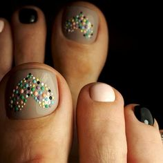 Lovely Toe Nails Design With Heart Accent ❤️ Over 50 Incredible Toe Nail Des. - Nail Design Ideas, Gallery of Best Nail Designs Heart Nail Designs, Creative Nail Designs, Pretty Nail Designs, Diy Nail Designs, Colorful Nail Designs, Nail Designs Spring, Simple Nail Designs, Accent Nail Designs, Pedicure Nail Art