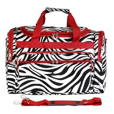 Stand out in style with this World Traveler duffel! This piece of lightweight luggage is great for jetsetters and can be used for a quick, close by staycation or for a weekend excursion to your favorite retreat. It's chic and fashionable design makes it a perfect choice for transporting gear for dance teams and cheer squads too!
