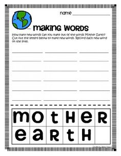 My students love these making words activities!  The challenge of using a predetermined set of letters to build new words is rewarding and engaging...