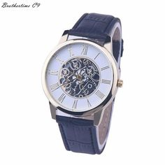 16fec8913 2017 Best Deal Fashion Golden hollow watch, Luxury Casual steel Men's Watch  Business Imitate Mechanical Watch Male clock relogio-in Lover's Watches  from ...