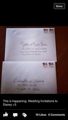 Wedding invitations to Disney!