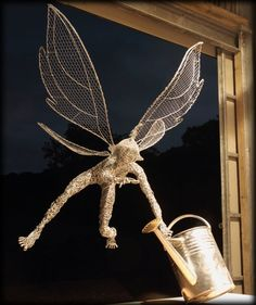 Fantasy Wire Fairies Sculptures How much fun is this??!!