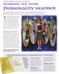 Working out your personality number