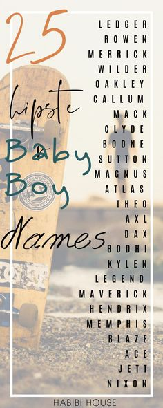 You have to see this very unique baby boy names list for the hipster parents. Millennial parents love unique! Please Show us some mom love and save this pin! #thehabibihouse #veryuniquebabyboynames #babyboynames #uniquebabyboynames