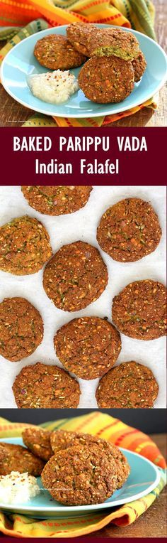 Baked Parippu Vada Recipe - Chana Dal Vada Or Masala Vadai. Chana Dal (Split chickpea) Fritters. Easy Indian Falafel with curry leaves and ginger. Use other spices and lentils for variation. Vegan Gluten-free soy-free Recipe   VeganRicha.com
