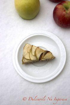 Prajitura cu Mere si Fulgi de Ovaz fara zahar si gluten, un deliciu de iarna! Fără Gluten, Deserts, Food And Drink, Mexican, Apple, Fruit, Ethnic Recipes, Apple Fruit, Postres