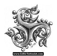 Celtic Tattoos Triskele 06 - http://celtictattooist.com/celtic-tattoos-triskele-06/