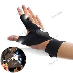 Multifunctional LED Fishing Fingerless Glove Outdoor Rescue Tool STH-521818 - TinyDeal