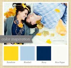 Yellow/blue/navy colour palette from Sarah Hearts