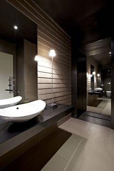 Salle de bain Novoceram - Le Caroscope #showroom #novoceram #drôme #carrelage #bathroom #salledebain #toilet #madeinfrance Bathroom Designs, Bathroom Interior Design, Bathroom Toilets, Bathrooms, Restroom Design, Wonderwall, Bathroom Inspiration, Bathroom Lighting, Basement