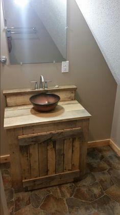 Pallet wood  bathroom vanity