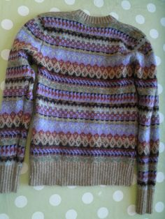 Traditional vintage fairisle sweater fawn heather by redbeachgirl, £16.00