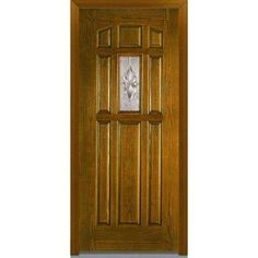 Boost Up The Look Of Your Home By Installing This Milliken Millwork  Majestic Elegance Decorative Glass Finished Oak Fiberglass Prehung Front  Door.