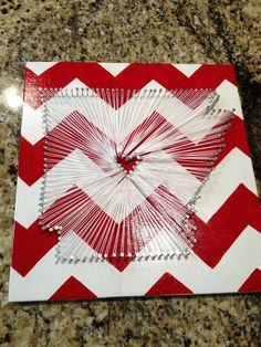 $25 Arkansas Love // Nail and String  12x12