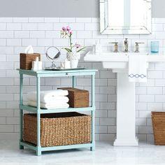 Seagrass Storage Basket Bathroom Tablebasement