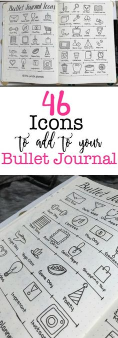 Check out these planning icons perfect for your bullet journal