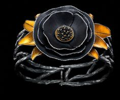Poppy Bracelet by Judith Kinghorn Jewelry Designs (Sterling Silver, 24 and 22 karat gold)