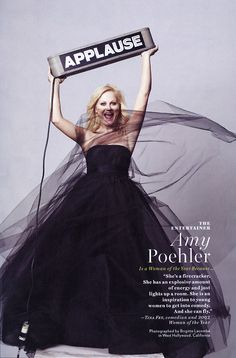 amy poehler: applause