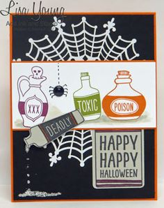 Stampin' Up! Sweet Hauntings stamp set. Halloween card. Handmade by Lisa Young, Add Ink and Stamp