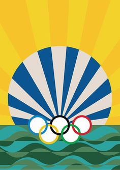 A group of 13 artists has created posters for this year's summer Olympics, which are taking place in Rio later this week. Illustration Photo, Funny Illustration, Graphic Illustration, Rio Olympics 2016, Summer Olympics, Claudio Tozzi, Rio Olympic Games, New Poster, Illustrations Posters