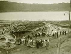 One of two Emperor Caligula's Nemi ships, which were elaborate floating palaces containing quantities of marble, mosaic floors, heating, and plumbing. They were rediscovered in the 1930's but...