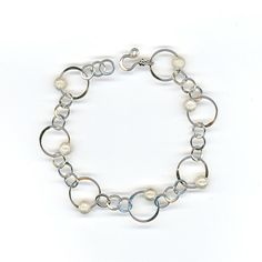 Sterling Silver Bracelet Chain Link Metalwork with by WvWorks, $73.25
