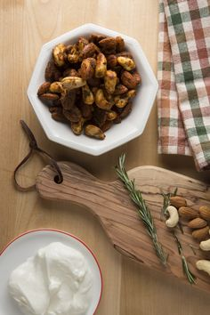 Rosemary Spiced Nuts - the perfect party app!