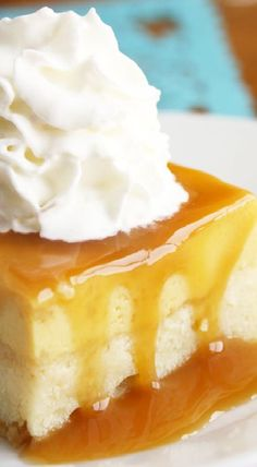 Flan Cake is easy and so delicious! It's a combination of cake, flan, and caramel sauce all in one pan, and it's the perfect Cinco de Mayo dessert. Flan Cake, Custard Cake, Candy Cakes, Cupcake Cakes, Bunt Cakes, Cupcakes, Just Desserts, Delicious Desserts, Mexican Desserts