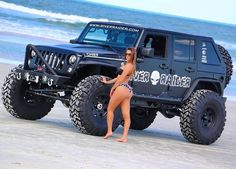 just some jeep stuff. remember keep the Jeep wave alive ! Jeep Wrangler Girl, Jeep Wrangler Rubicon, Jeep Wrangler Unlimited, Trucks And Girls, Car Girls, Big Trucks, Custom Jeep, Custom Trucks, Jeep 4x4