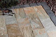 Natursteinplatten für die moderne Terrasse