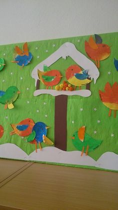 Winter classroom door ideas learning Ideas for 2019 New Year's Crafts, Bird Crafts, Paper Crafts, Hobbies And Crafts, Crafts For Kids, Bastelarbeit Winter, Winter Theme, Winter Art Projects, Winter Project