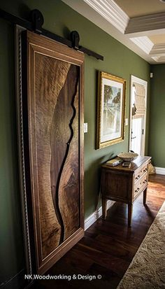 Live Edge Walnut Slab Door Cky Design Inc My Work