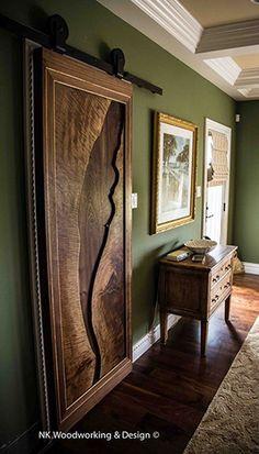 Live Edge Walnut Slab Door Cky Design Inc My Work Pinterest Slab Doors Walnut Slab And