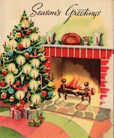 There's magic in a Christmas fire. Christmas Fireplace, Christmas Past, Christmas Gift Tags, Xmas Cards, Christmas Greetings, Christmas Traditions, Christmas Crafts, Christmas Specials, Christmas Decorations