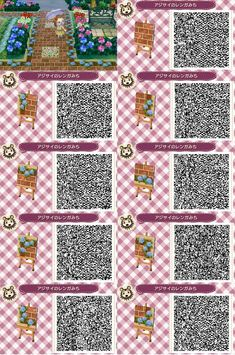 Animal Crossing: New Leaf & HHD QR Code Paths trapped-in-the-metaverse: Animal Crossing New Leaf Path - Bricks with Tropical Flowers Full Size Link<br> Qr Code Animal Crossing, Animals Crossing, Animal Crossing Qr Codes Clothes, Brick Path, Stone Path, Tropical Flowers, Anime Angel, Acnl Paths, Motif Acnl