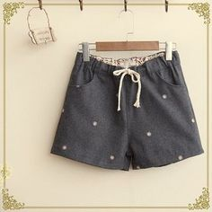 Buy 'Fairyland – Flower Embroidered Shorts' with Free International Shipping at YesStyle.com. Browse and shop for thousands of Asian fashion items from China and more!