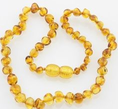 Bouncy Baby Boutique(TM) Baltic Amber Teething Necklace - Baroque Lemon by Bouncy Baby BoutiqueTM. $11.79