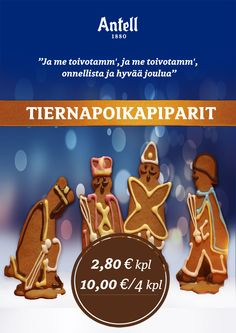 Antellin tiernapoikapiparit joulun herkkuhetkiin. Finland, Movies, Movie Posters, Film Poster, Films, Popcorn Posters, Film Books, Movie, Film Posters