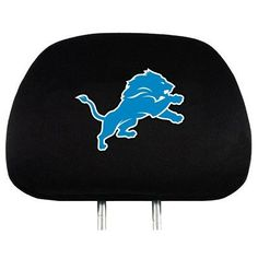 Head Rest Cover - Detroit Lions