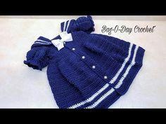 """#CROCHET DRESS """"The Sassy Lil' Sailor Dress"""" Toddler girl baby Dress TUTORIAL #403 - YouTube"""