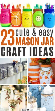 23 DIY mason jar crafts that you can make at home! These mason jar crafts are perfect for any DIY lovers. You could even sell these crafts for cash! crafts to sell 23 Easy DIY Mason Jar Crafts That Look Spectacular Diy Décoration, Easy Diy Crafts, Diy Crafts To Sell, Sell Diy, Decor Crafts, Diy Crafts Home, Diy Projects To Sell, July Crafts, Tree Crafts